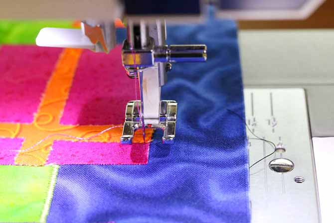 Needle is not in the correct starting position for satin stitching
