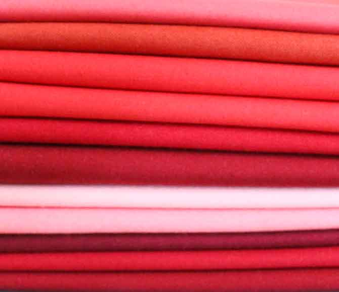 Northcott ColorWorks Premium Solids in shades of red