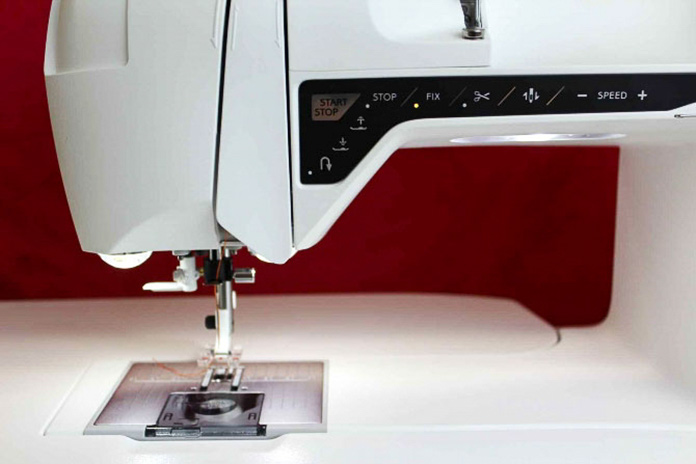 The Opal 690Q has THREE LED lights – one on the arm of the sewing machine and TWO on either side of the needle.