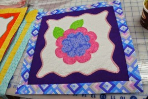 Applique!!! Crazy Quilter on a Bike