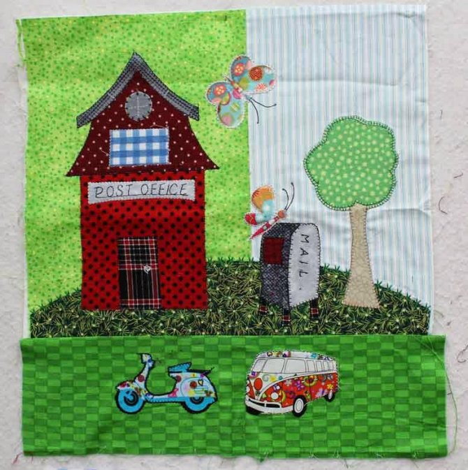 Construction up in Tiny Town! - Crazy Quilter on a Bike!