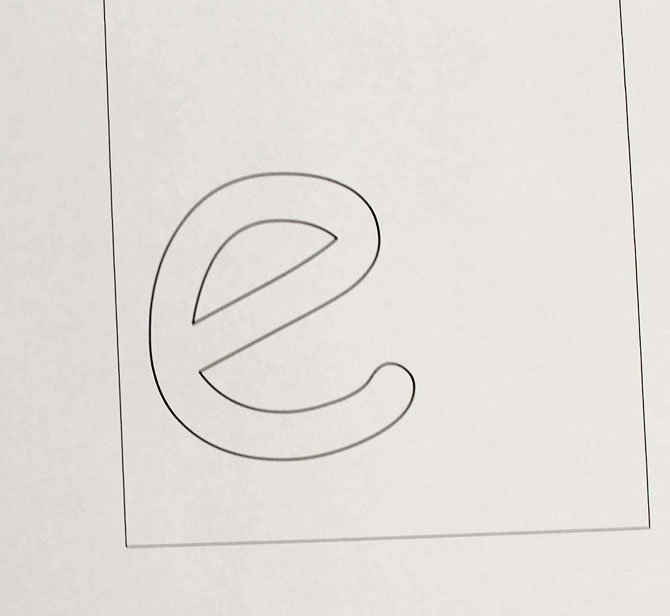 My pattern for the monogrammed applique