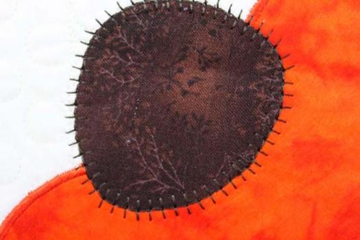 Decorative stitch used for applique