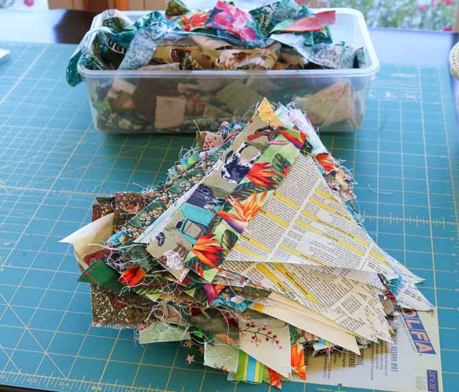 How To Make A String Quilt Block Using Foundation Piecing