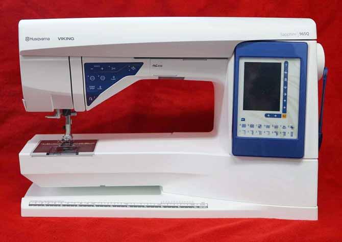 Husqvarna VIKING Sapphire 965Q sewing machine.