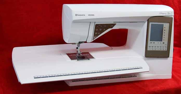 Husqvarna Viking Designer Topaz 50 with optional extension table