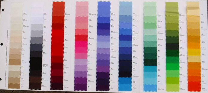 The ColorWorks swatch card showcases all 113 luscious colors
