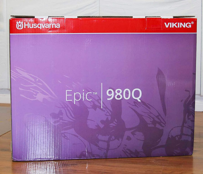 The box for the Husqvarna Viking Epic 980Q