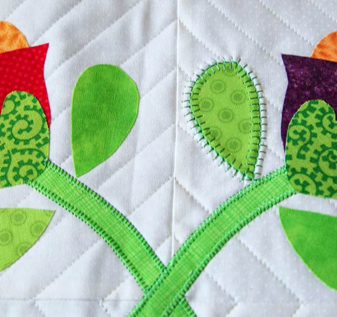The spikey stitch adds so much more interest to the applique shape