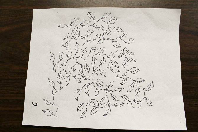 Practice doodling the quilting design on paper
