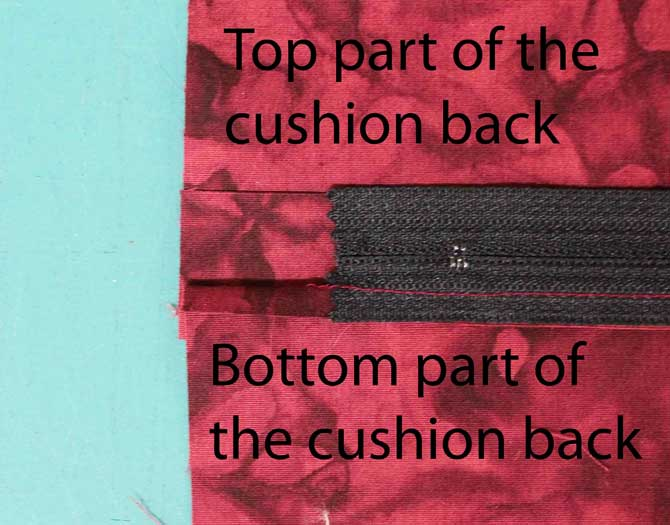 Line up the two parts of the cushion back