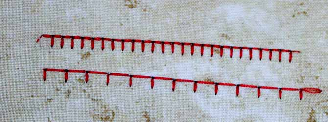 Double stitched blanket stitch