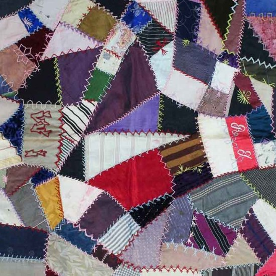 Traditional crazy patch quilt