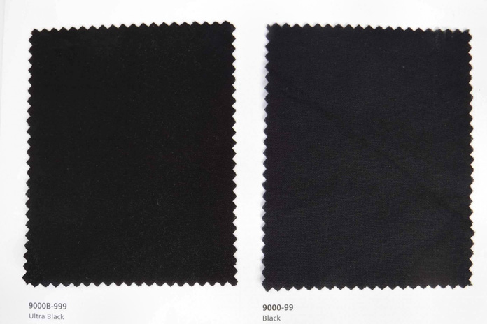 The swatch on the left is Ultra Black which is much blacker than the regular black