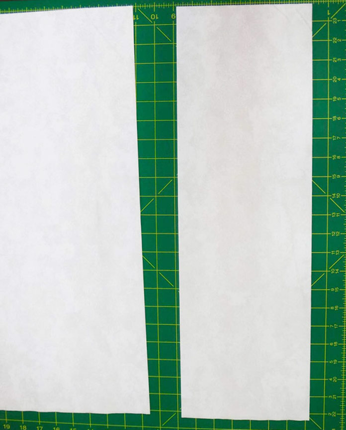 A 7-inch strip of fabric has been cut from the yardage