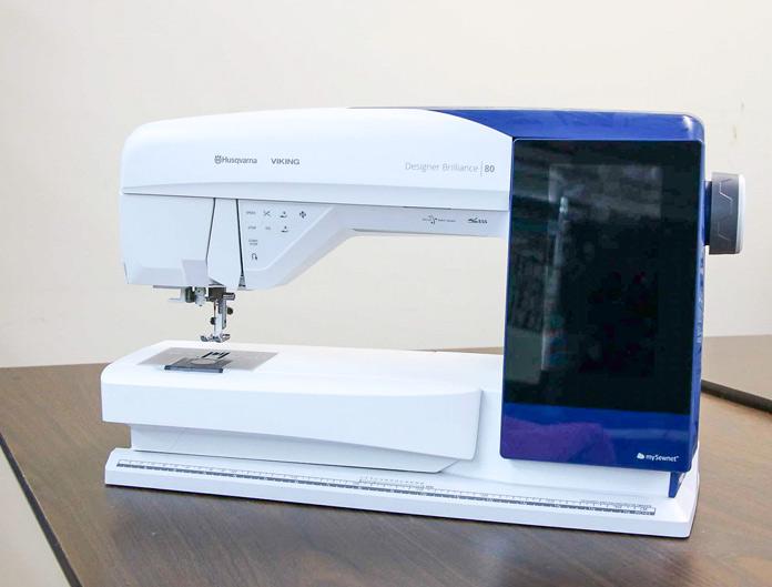 The Husqvarna Viking Designer Brilliance 80 sewing/embroidery machine