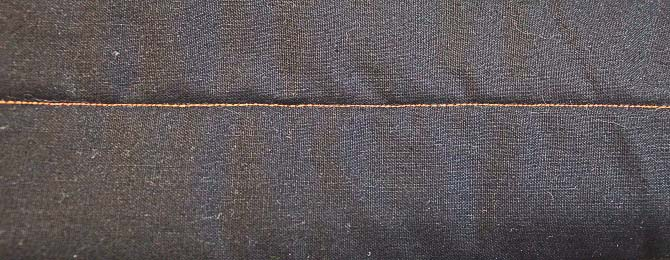 Not only was the stitch length extremely uneven, but the tension was way too tight on the top.
