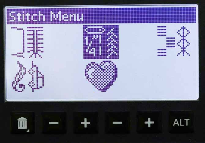 Stitch Menu selection