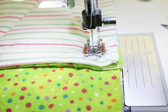Many thicknesses to sew over at the seam intersections