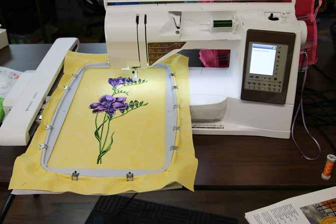 Machine Embroidery With The Husqvarna Viking Topaz 50