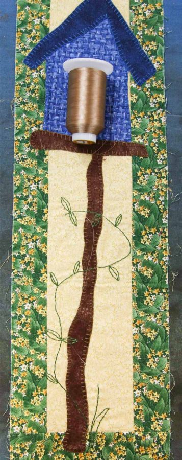 WonderFil's InvisaFil in beige for the quilting on this small wall hanging