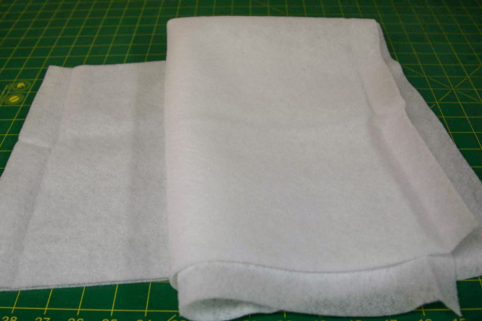 Cutting the fusible fleece