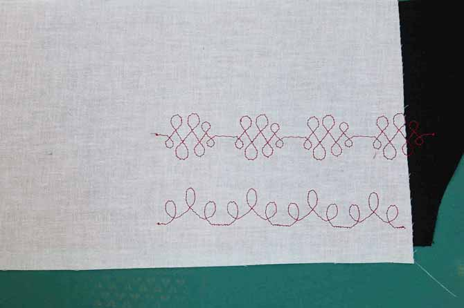 Fusible interfacing on the back of the fabric provides stability