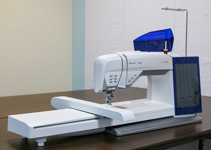 Husqvarna Viking Designer EPIC with the embroidery unit