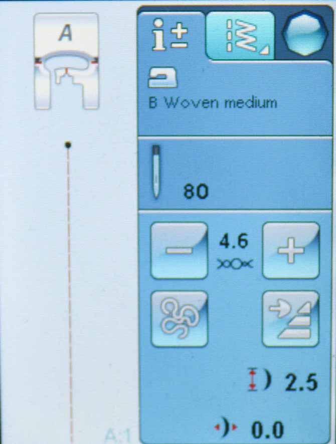 Stitch information for Stitch A1