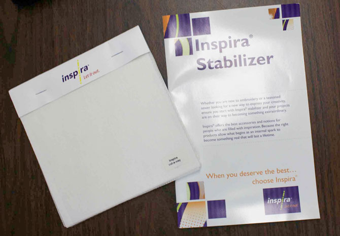 INSPIRA stabilizer sample pack and booklet