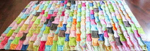 Rag quilt sewn together, it's ready to be clipped.