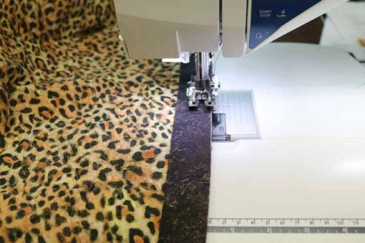 The extension eliminates drag on the quilt