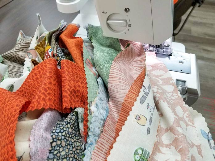 How to piece a quilt using a serger
