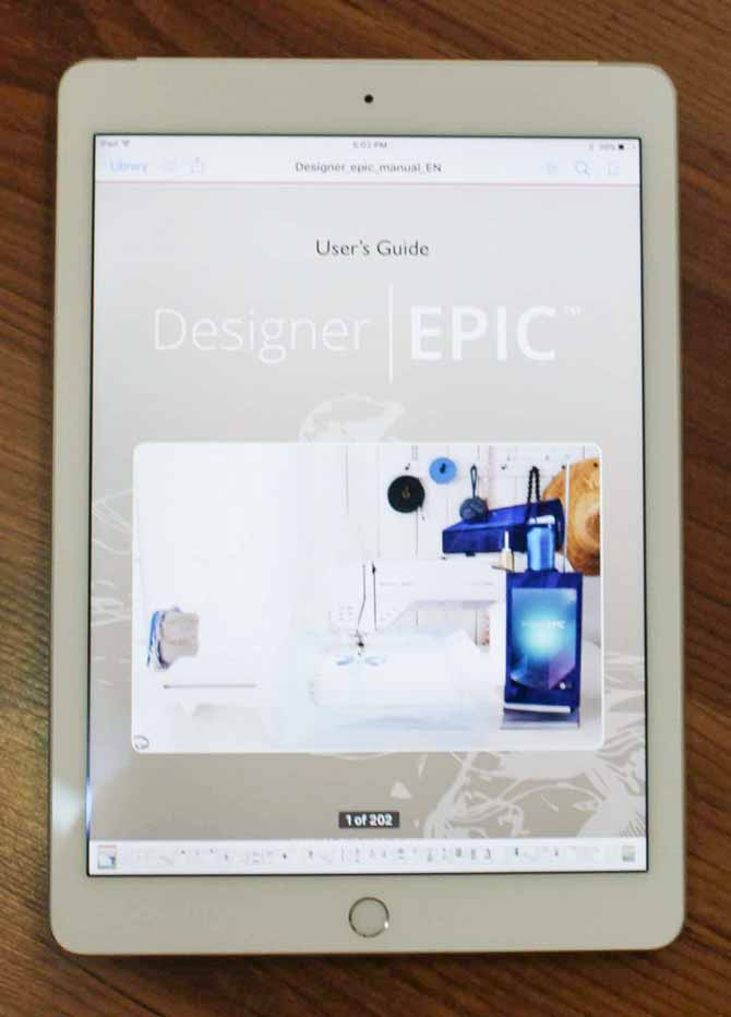 User's Guide on a tablet