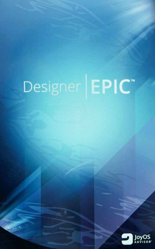Opening screen for the Designer EPIC