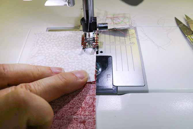 Use your finger to feel if the seams are overlapping, not touching or lined up just right