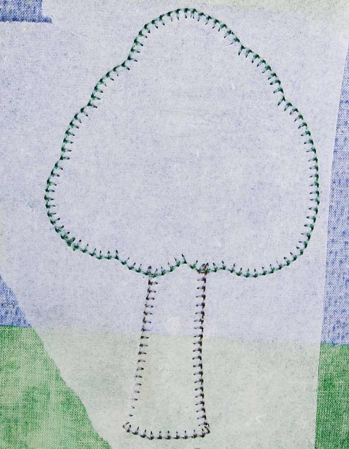 Stabilizer on the wrong side of buttonhole applique isn't always necessary