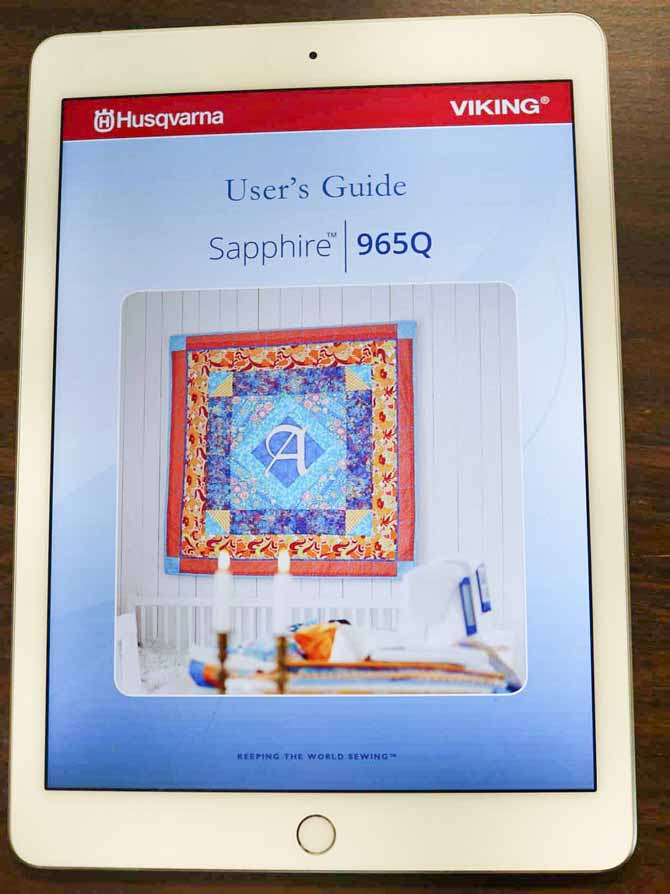 User's Guide for the Sapphire 965Q on a tablet