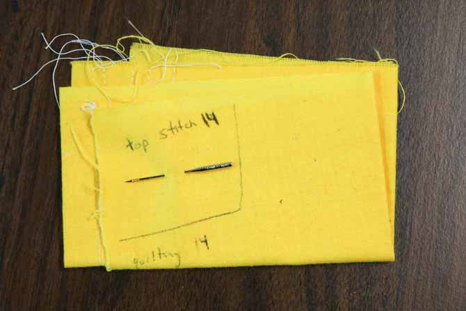 Use a piece of fabric to store partially used needles