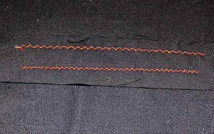 Here are two variations of the elongated zig zag that is useful for invisible machine applique.