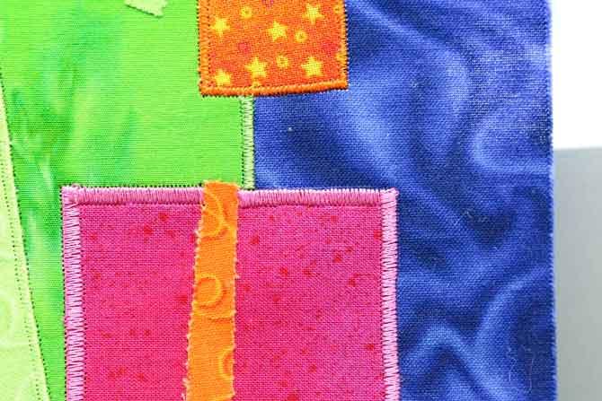 Beautifully stitched corners