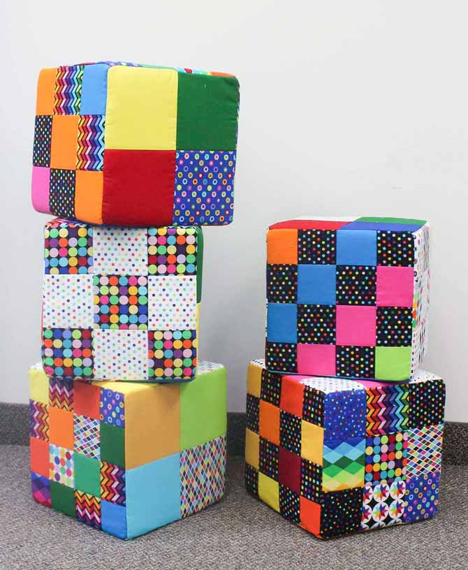 Cube pillows - couldn't just make one!