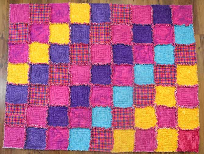 Completed rag quilt