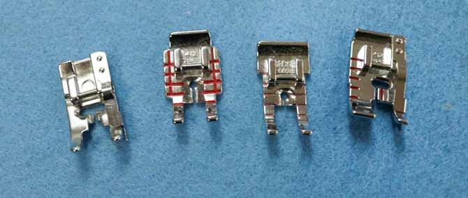 "Various ¼"" presser feet for the Opal 690Q"