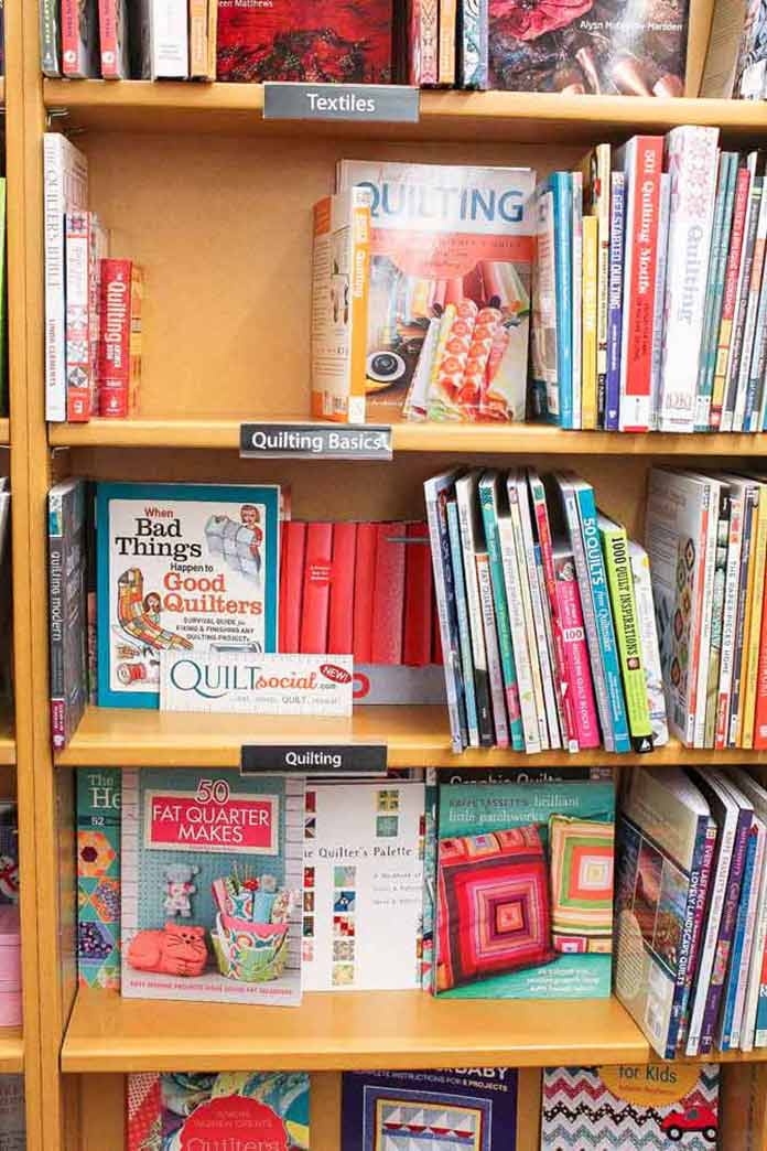 A great variety of quilt related books
