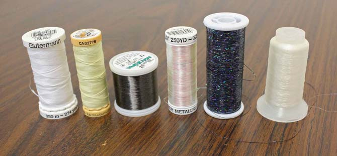 Variety of threads for free motion quilting
