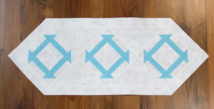 Table runner made with extra blocks