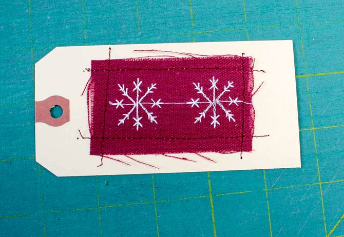 Fabric gift tag