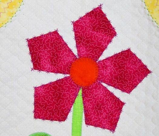 Using a decorative stitch as an applique stitch