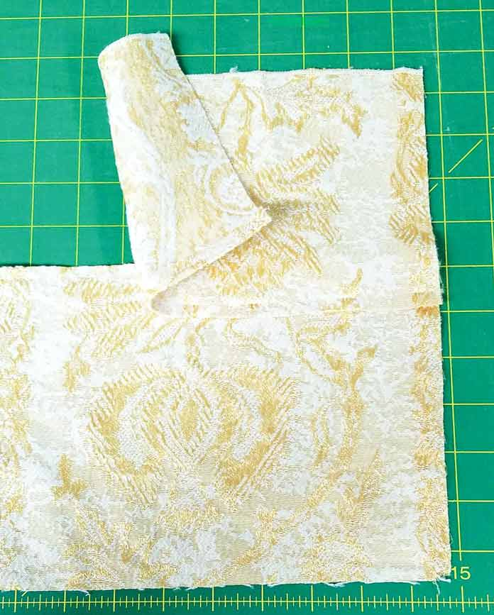 Making an envelope backing for the cushion cover